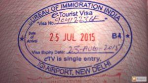 электронной визы в Индию