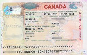 канадской рабочей визы
