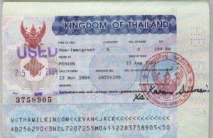 рабочую визу в Таиланд