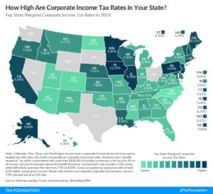 Размер подоходного налога по штатам